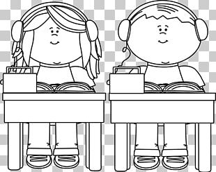 Student School Black And White Child PNG