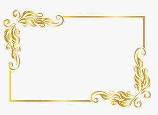 Gold Frame Design PNG Images, Gold Frame Design Clipart Free