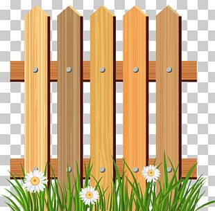 Picket Fence Flower Garden PNG