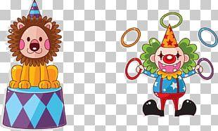 Lion Circus Cartoon Clown PNG