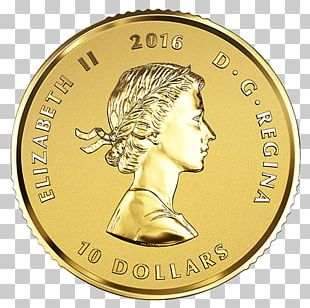 Coin Canadian Gold Maple Leaf Canada Royal Canadian Mint PNG