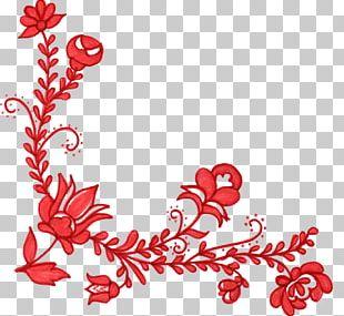 Flower Red Floral Design PNG