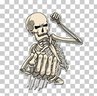 Sticker Skeleton Telegram Joint VKontakte PNG