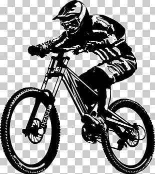Downhill Mountain Biking Cycling Bicycle Mountain Bike Tattoo PNG