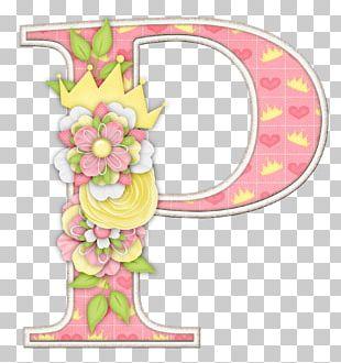 Letter Alphabet Flower M PNG
