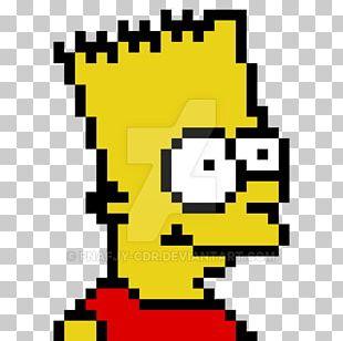 Bart Simpson Maggie Simpson Homer Simpson Pixel Art Drawing PNG