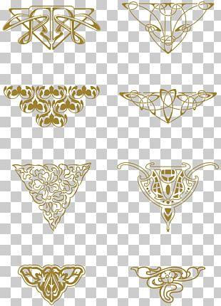 Ornament Art Nouveau PNG