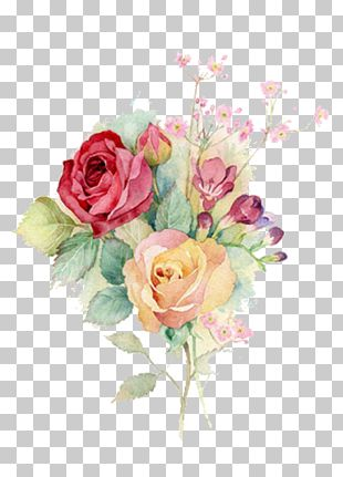 Watercolour Flowers Watercolor Painting Rose Art PNG