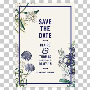 Wedding Invitation Floral Design Botanical Garden Save The Date Botany PNG