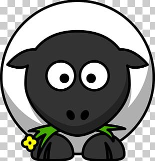 Sheep Cartoon Drawing PNG