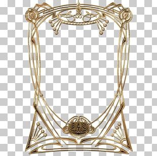 Art Deco Golden Frame PNG