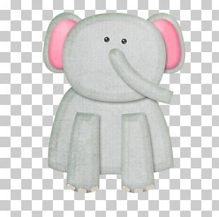Elephant Textile Stuffed Toy PNG