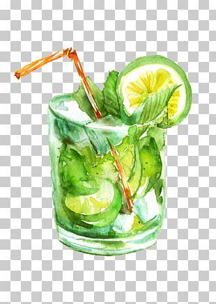 Mojito Juice Cocktail Caipirinha Drawing PNG