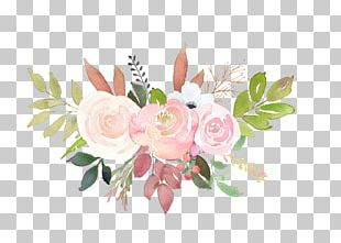 Garden Roses Floral Design Wedding Invitation Flower Bouquet PNG