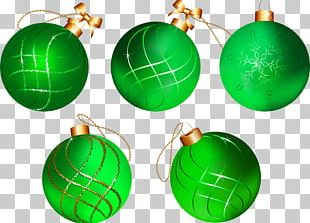 Green Sphere Christmas Ornament Christmas Tree PNG