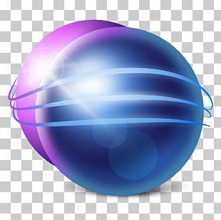 Blue Ball Computer Purple PNG