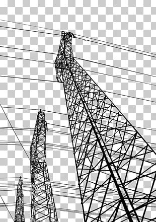 Electricity High Voltage Electric Power Transmission PNG