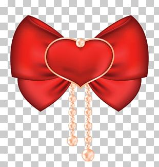 Valentine's Day Ribbon Heart PNG