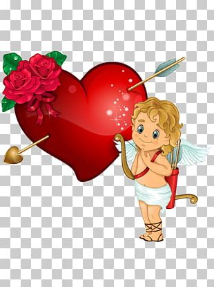 Cupid And Psyche Heart PNG