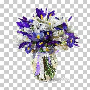 Flower Bouquet Irises Garden Roses Plant PNG