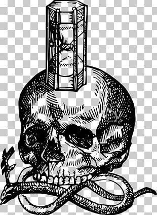 Hourglass Death Human Skull Symbolism PNG