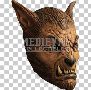 Latex Mask Werewolf Halloween Costume PNG