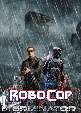 RoboCop Versus The Terminator Film Poster PNG