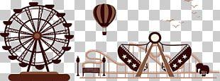 Amusement Park Silhouette Ferris Wheel PNG