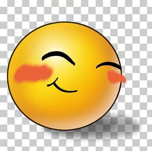 Blushing Smiley Emoticon Emoji PNG