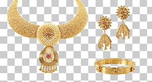 Necklace Earring Gold Jewellery Choker PNG