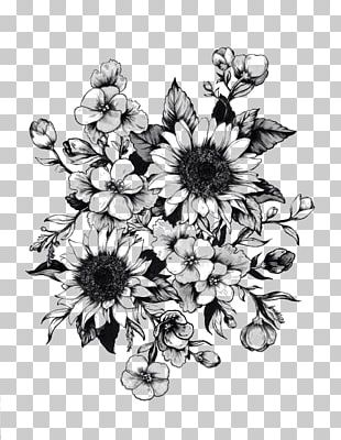 Drawing Flower Tattoo Sketch PNG