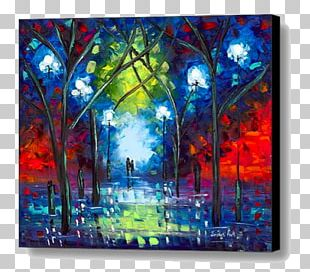 Modern Art Painting Canvas Print Fine Art PNG