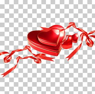 Valentines Day Heart Gift PNG