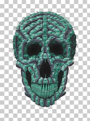 Skull Teal Turquoise PNG