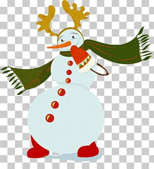 Snowman Christmas Ornament New Year Gift PNG