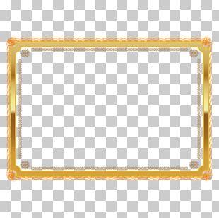 Gold Award-winning Border Decoration PNG