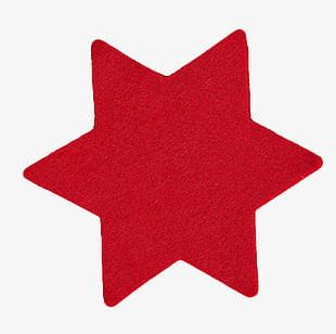 Red Star Of David Decoration PNG