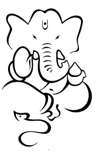 Ganesha Drawing Sketch PNG