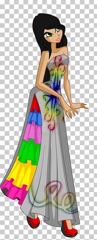 Illustration Costume Design Gown PNG