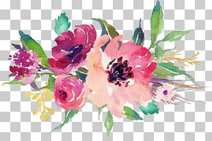 Paper Sticker Flower Watercolor Painting Wedding PNG