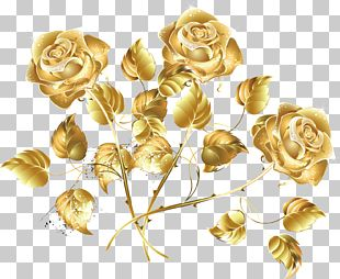 Golden Rose Rose Creative Sea PNG