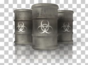 Biological Hazard Biological Warfare Toxin Cylinder PNG
