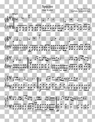 Sheet Music Piano The Spectre Guitar PNG