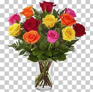 Floristry Rainbow Rose Flower Bouquet PNG