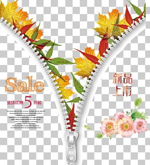 Poster Sales Promotion Autumn Advertising PNG