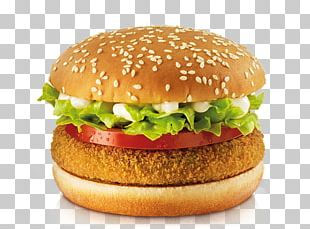 Veggie Burger Hamburger Vegetarian Cuisine Chicken Sandwich Vada Pav PNG