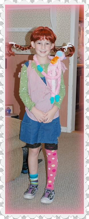 Halloween Costume Pippi Longstocking Toddler Child PNG