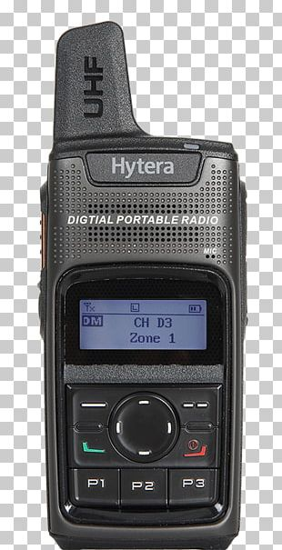 Digital Mobile Radio Handheld Two-Way Radios Radio Broadcasting Hytera PNG