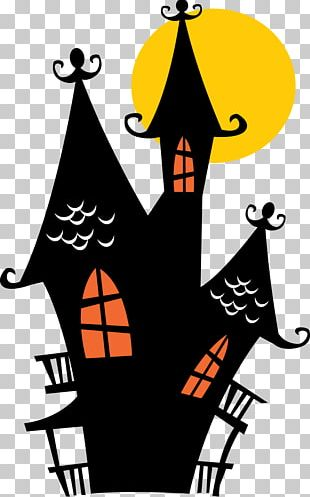 Halloween Cake Haunted House Wall Decal PNG