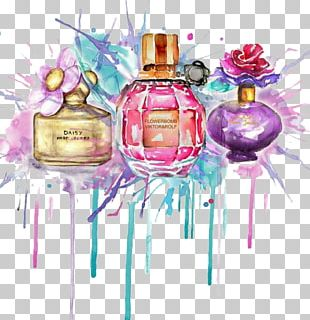 Perfume Drawing Watercolor Painting Fashion Illustration PNG
